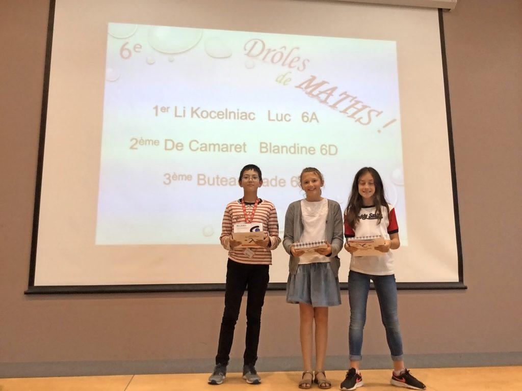 Lauréats 6ème