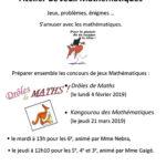 Atelier jeux maths