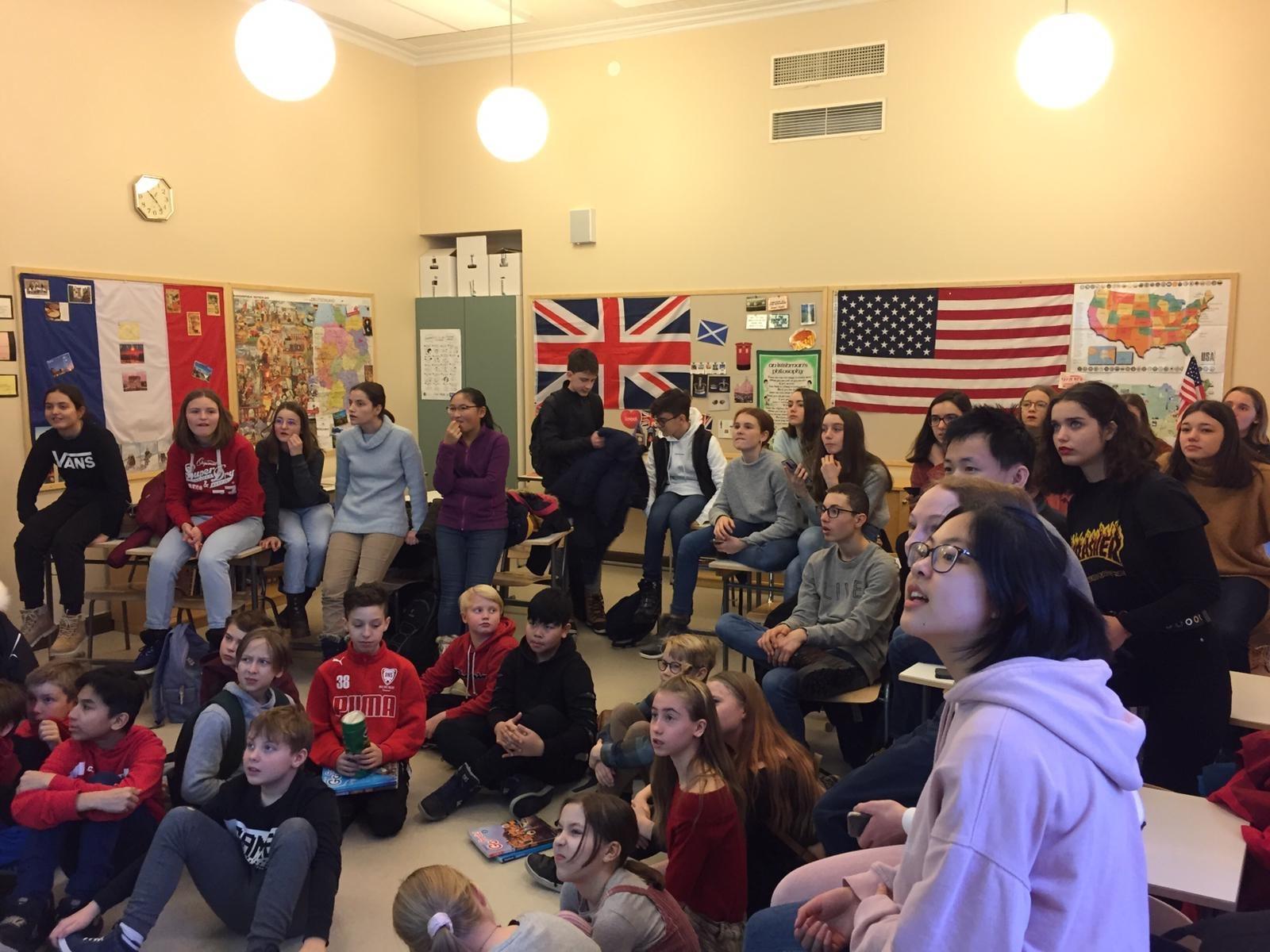 8 Les élèves dans en cours de français en Finlande