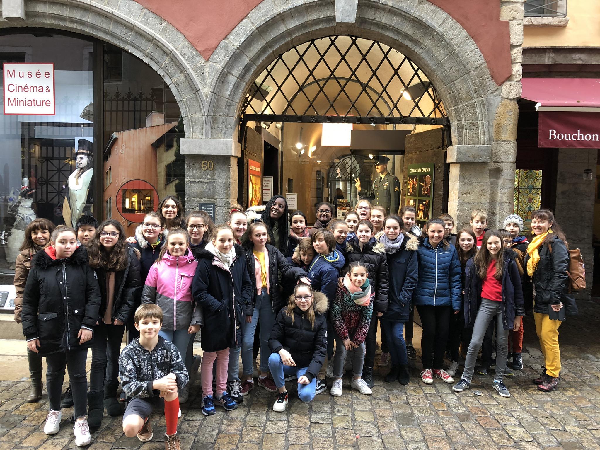 Sortie des 6A à Lyon au musée Cinéma et Miniatures et à l'Auditorium