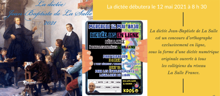 La dictée de Jean-Baptiste de La Salle 2021
