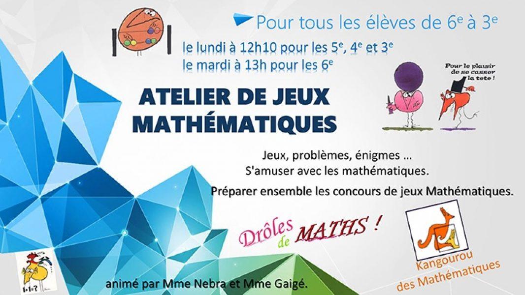 Atelier jeux mathématiques
